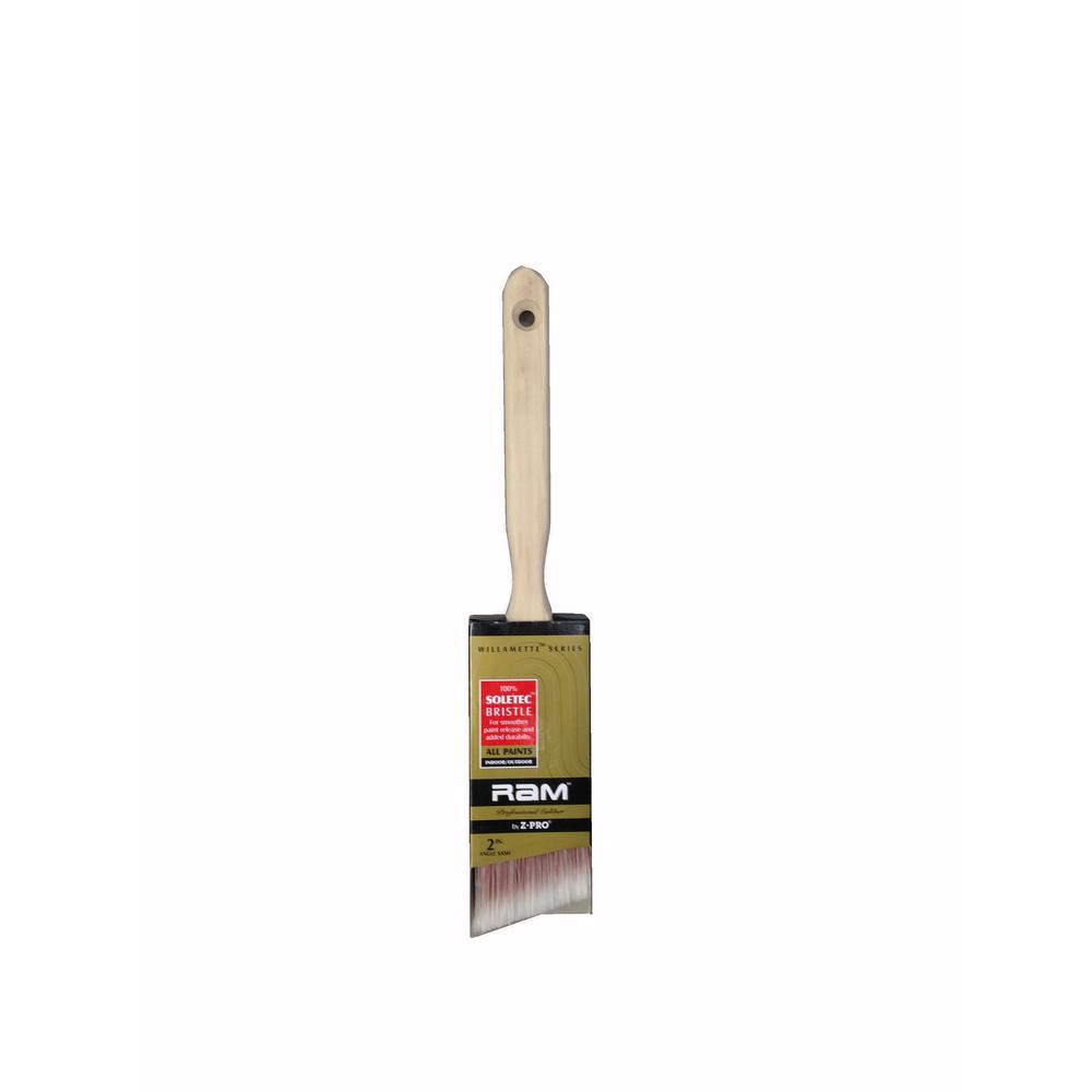 Willamette 2 in. Angle Sash Paint Brush (12-Pack)