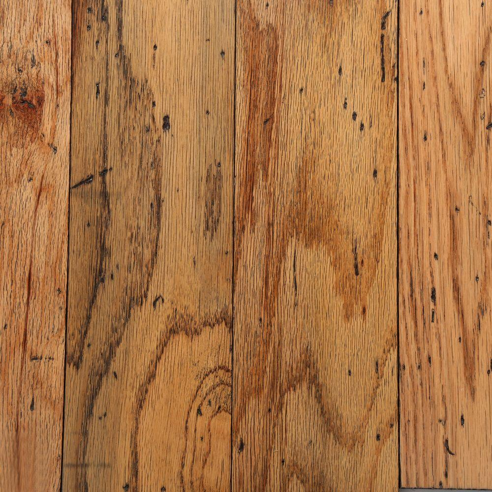 Distressed Oak Toast 3/8 in. Thick x 5 in. Wide Random