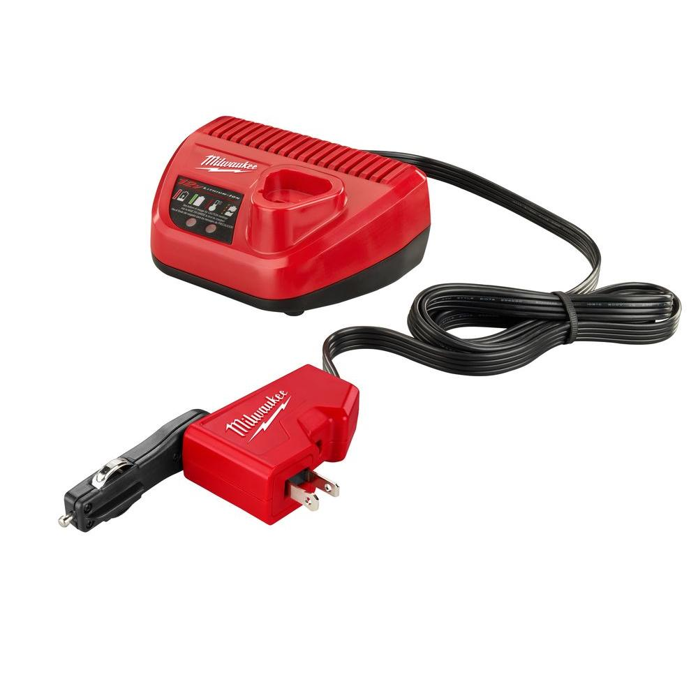 M12 12-Volt LIthium-ion AC/DC Wall and Vehicle Charger