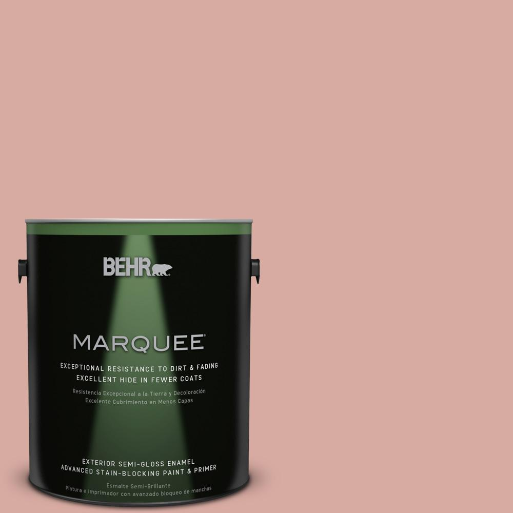 BEHR MARQUEE 1 gal. #T17-06 Everything's Rosy Semi-Gloss Enamel Exterior