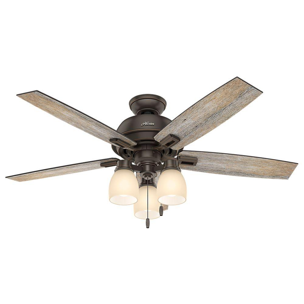 Donegan 52 in. LED Indoor Onyx Bengal Bronze Ceiling Fan with