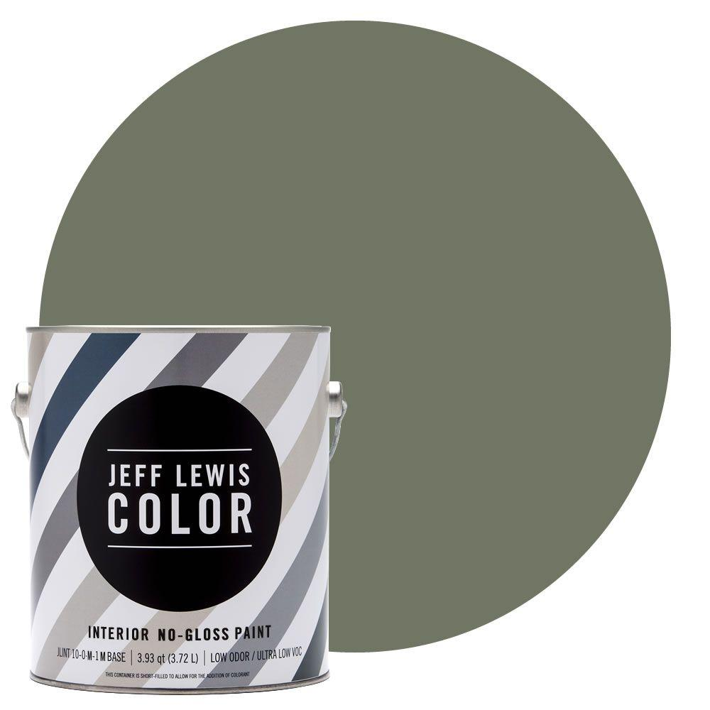 Jeff Lewis Color 1-gal. #JLC512 Edamame No-Gloss Ultra-Low VOC Interior Paint