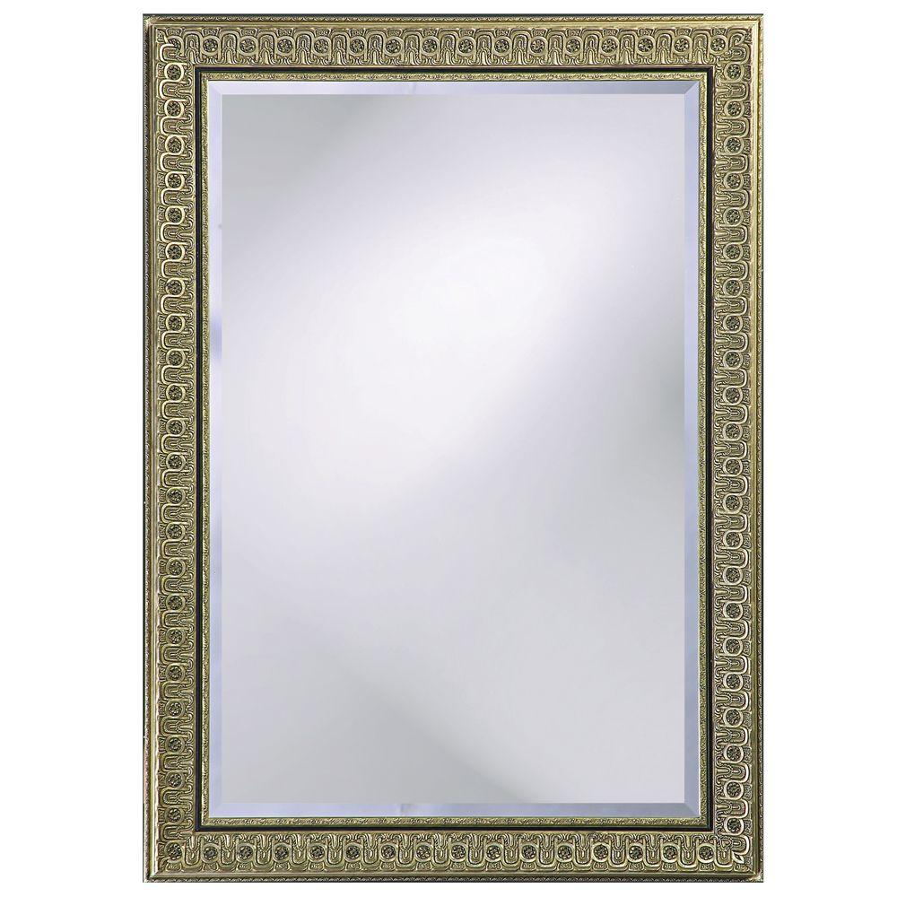 null 44 in. x 32 in. Wood Framed Mirror
