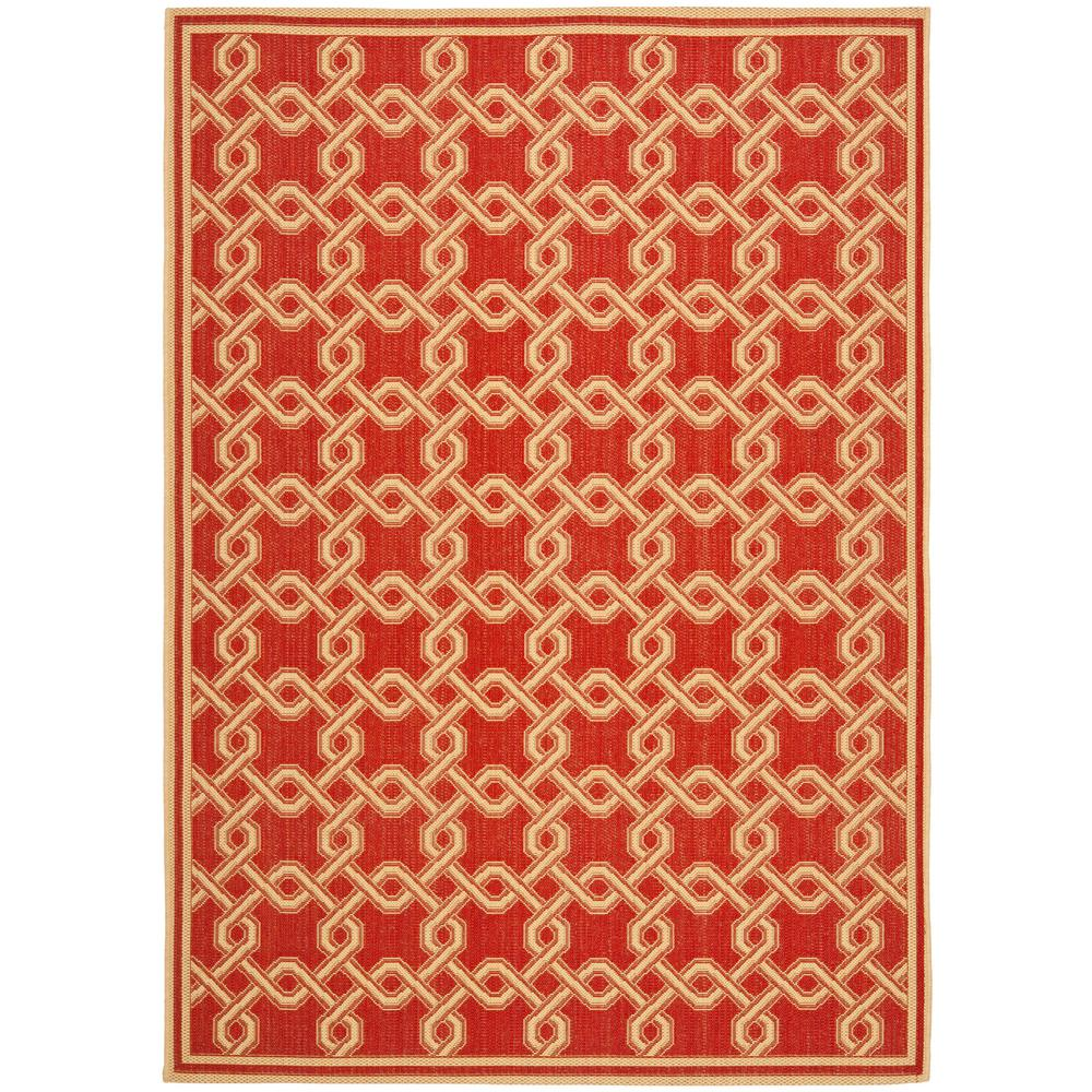 Safavieh martha stewart red cream 5 ft 3 in x 7 ft 7 in for Cream and red rugs