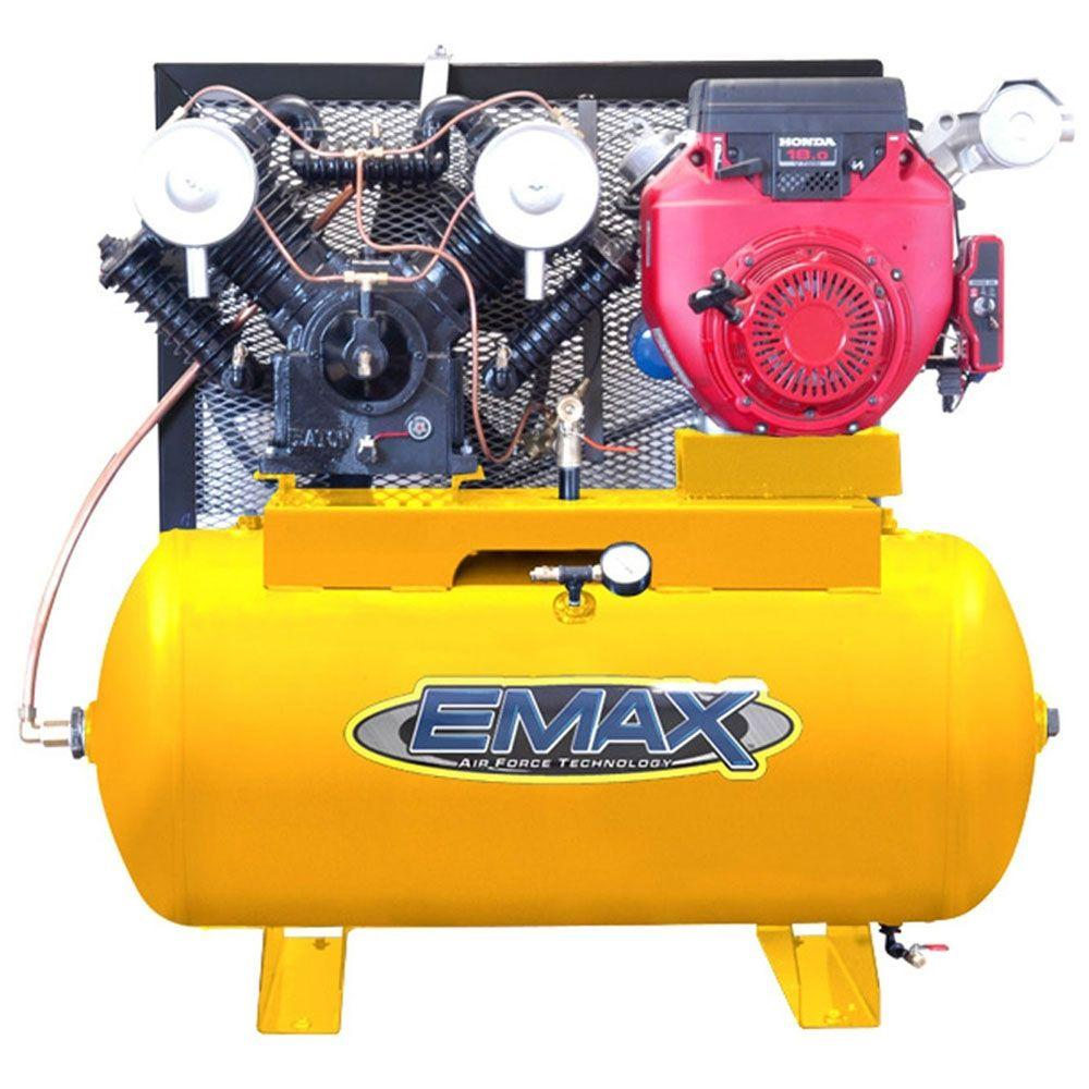 EMAX 30-Gal. 18 HP Gas 2-Stage Truck Mount Air Compressor with Honda Engine-DISCONTINUED