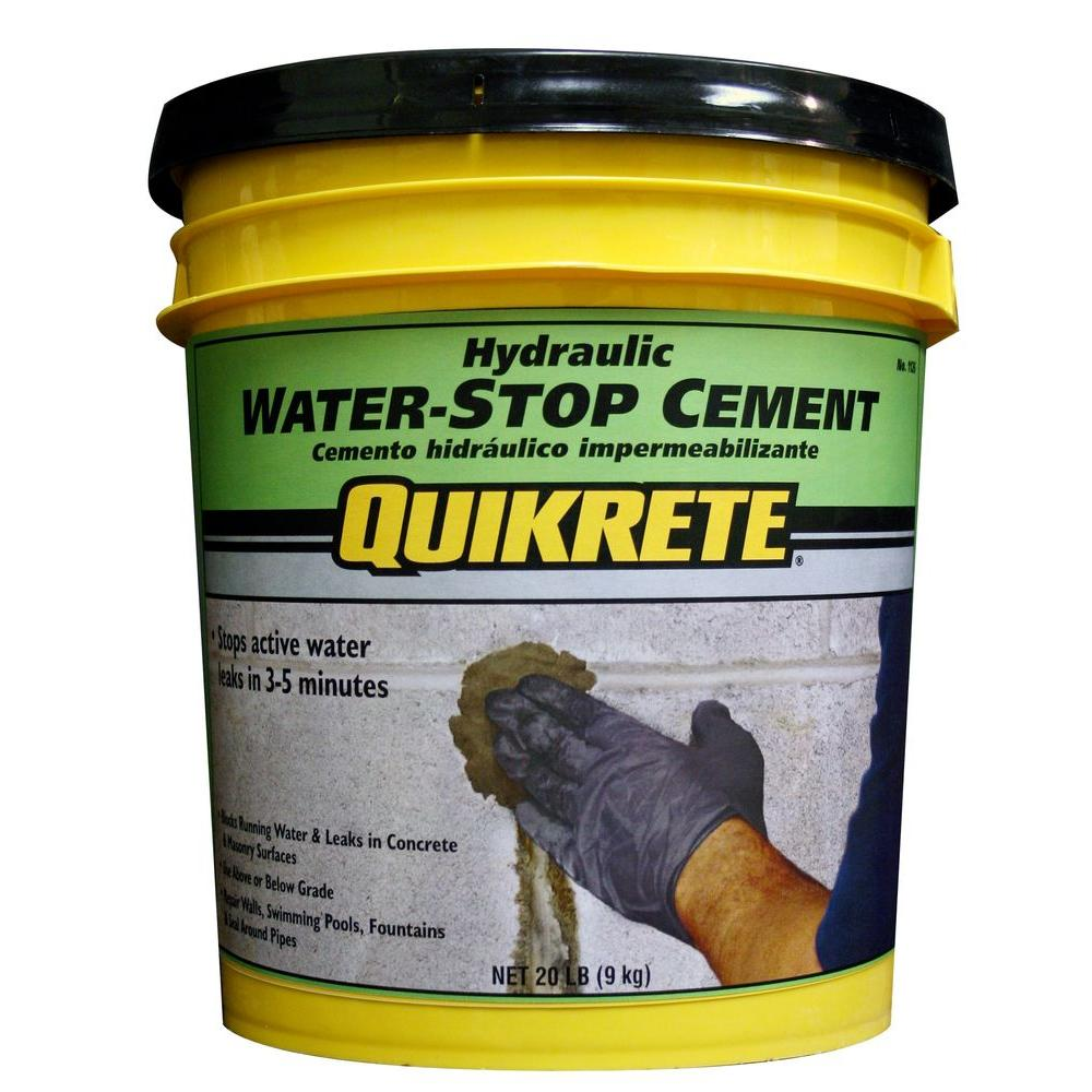 Quikrete 20 Lb Hydraulic Water Stop Cement 112620 The