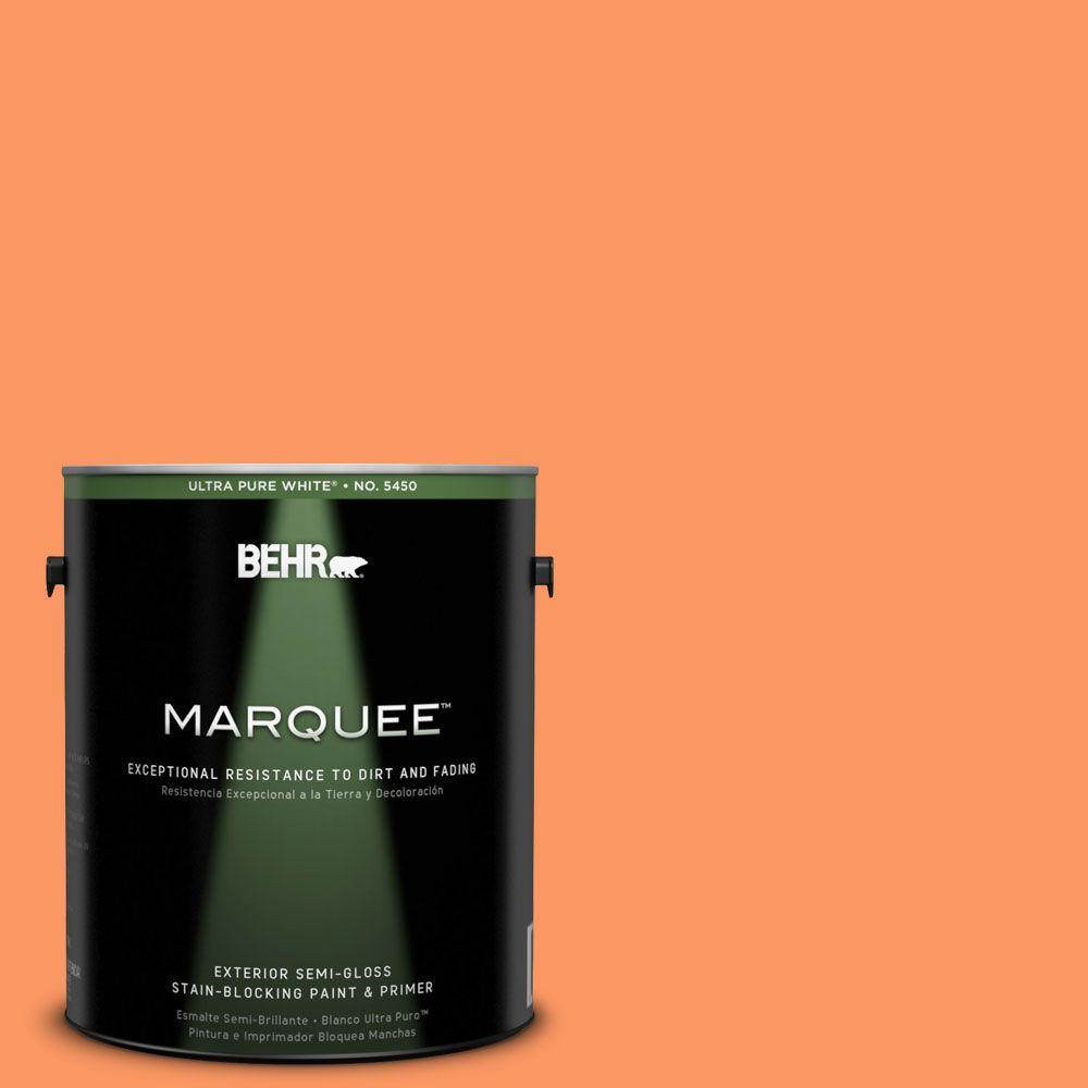 BEHR MARQUEE 1-gal. #230B-5 Indian Paint Brush Semi-Gloss Enamel Exterior