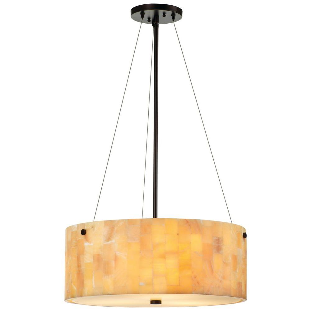 Philips Forecast Hudson 3-Light Merlot Bronze Hanging Pendant-DISCONTINUED