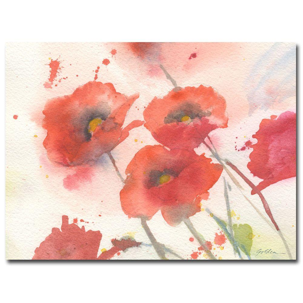 Trademark Fine Art 18 in. x 24 in. Swaying Red Poppies