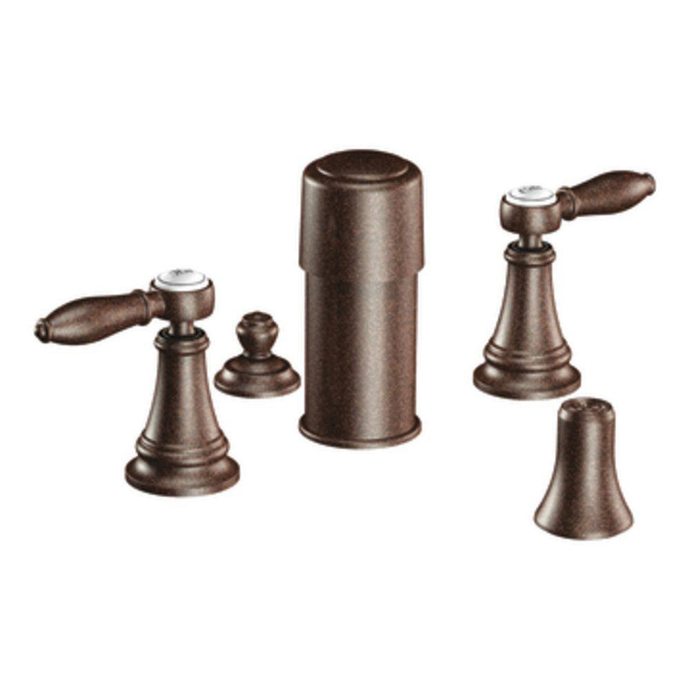 MOEN Weymouth 2-Handle Bidet Faucet in Oil Rubbed Bronze-DISCONTINUED