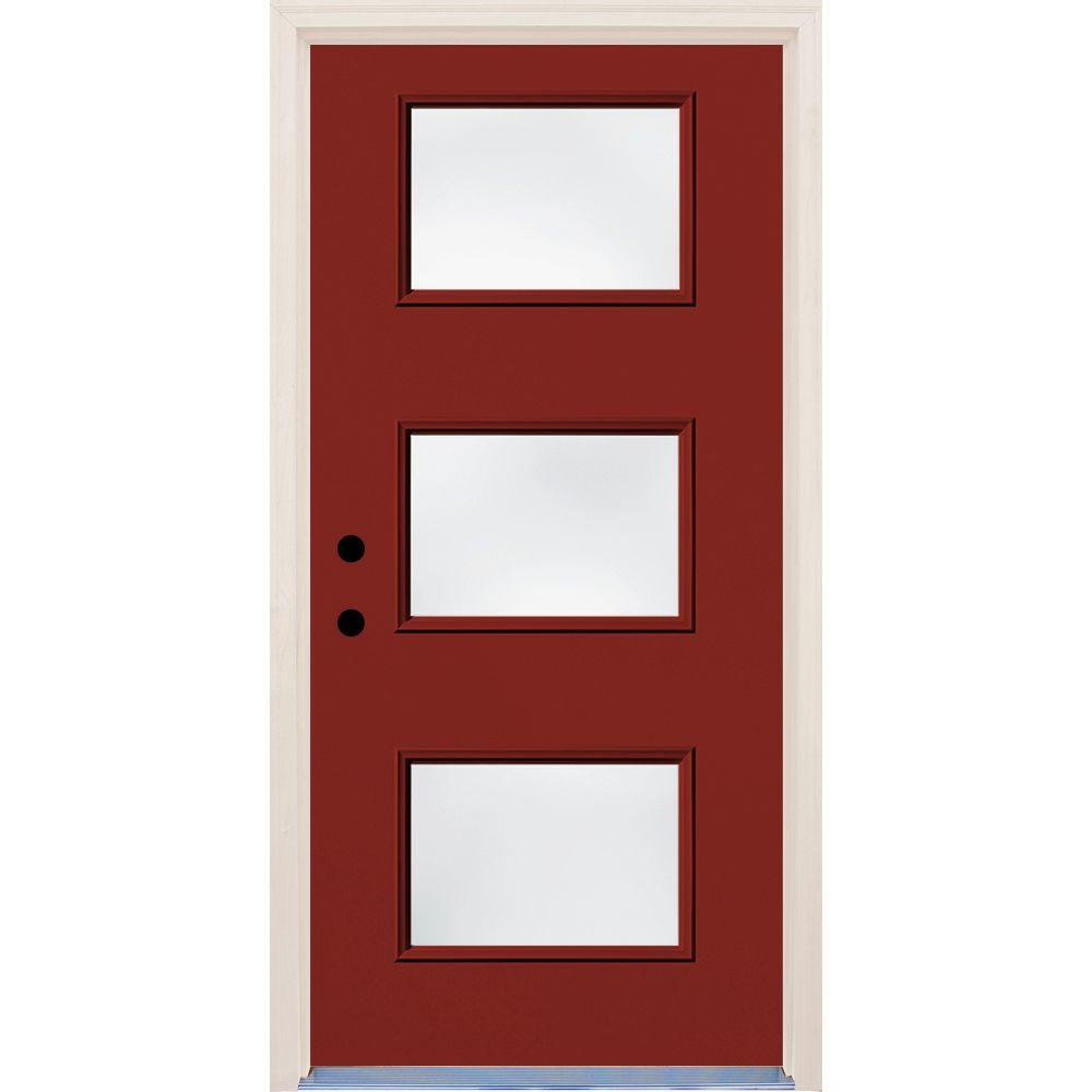 Builder's Choice 36 in. x 80 in. Cordovan 3 Lite Clear