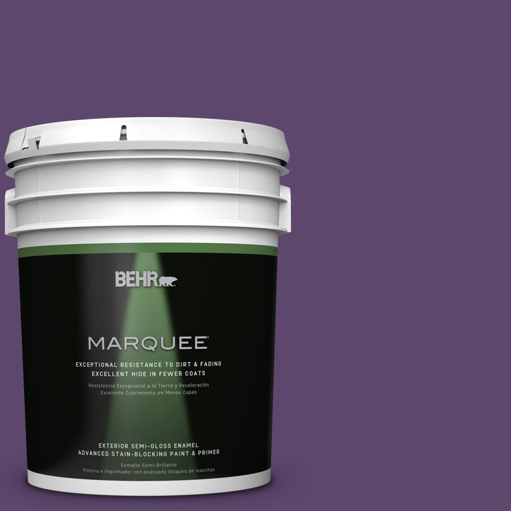 BEHR MARQUEE 5-gal. #S-G-660 Wild Grapes Semi-Gloss Enamel Exterior Paint-545305
