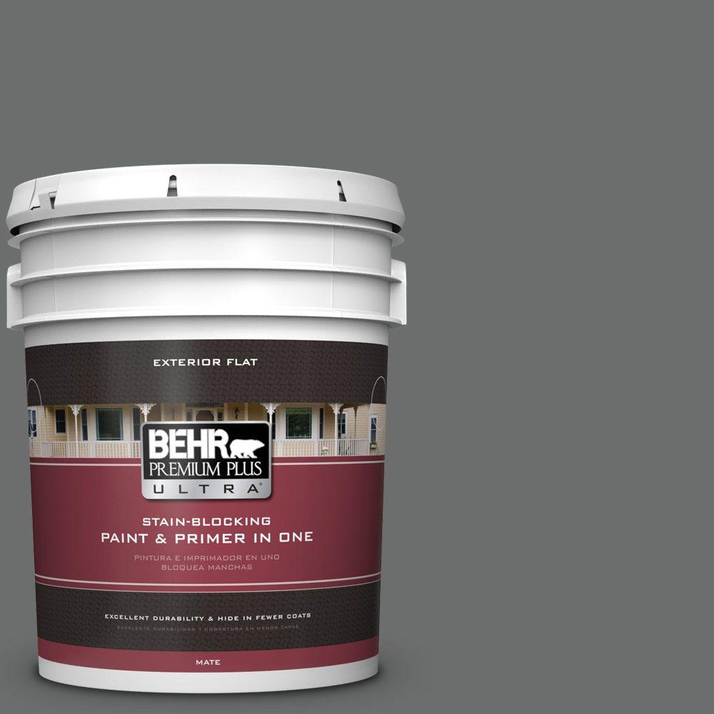 5 gal. #HDC-AC-17A Welded Iron Flat Exterior Paint
