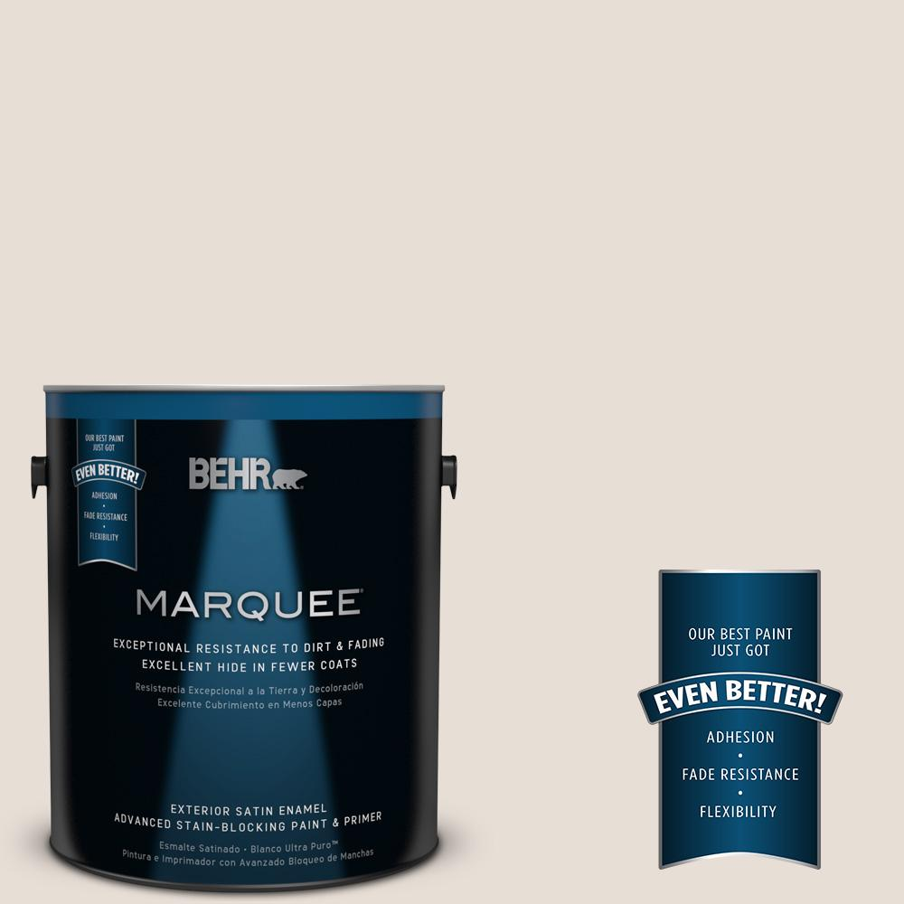 BEHR MARQUEE 1-gal. #PPU2-4 Pale Cashmere Satin Enamel Exterior Paint