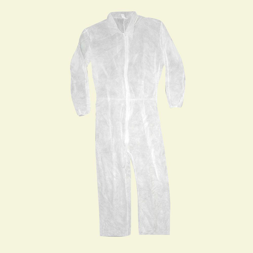 Trimaco Medium Polypropylene Coverall with Elastic Back and Wrists