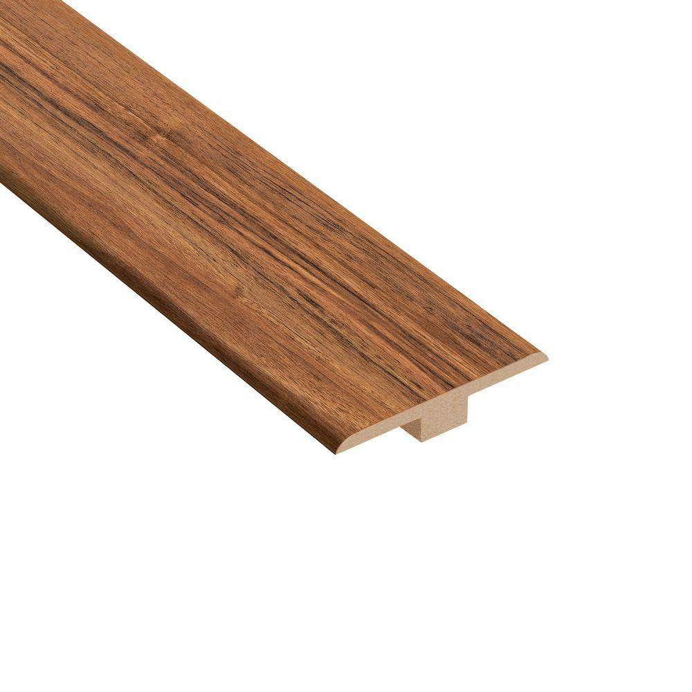Home Legend Vancouver Walnut 1/4 in. Thick x 1-7/16 in. Wide x 94 in. Length Laminate T-Molding