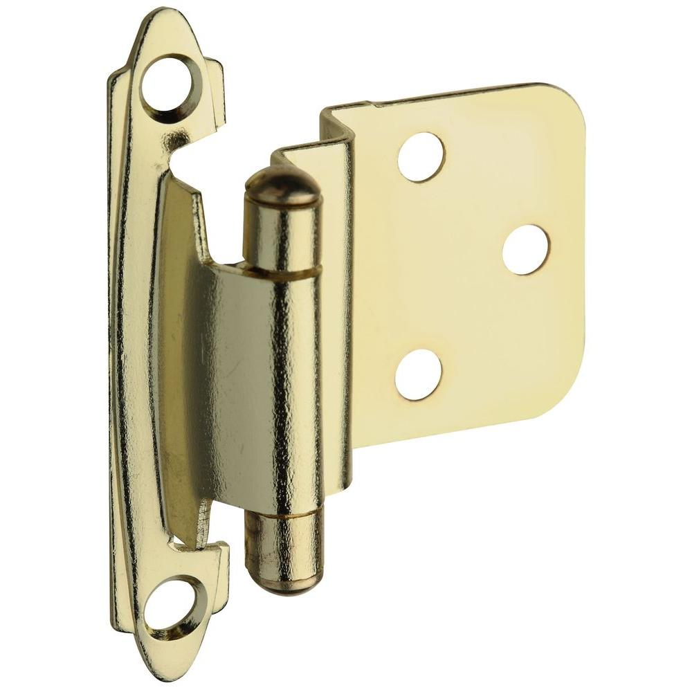Cabinet Hinges: Stanley-National Hardware Drawer Hardware Standard Spring Brass Cabinet Hinge BB8195 SPR CAB HNG OFS B