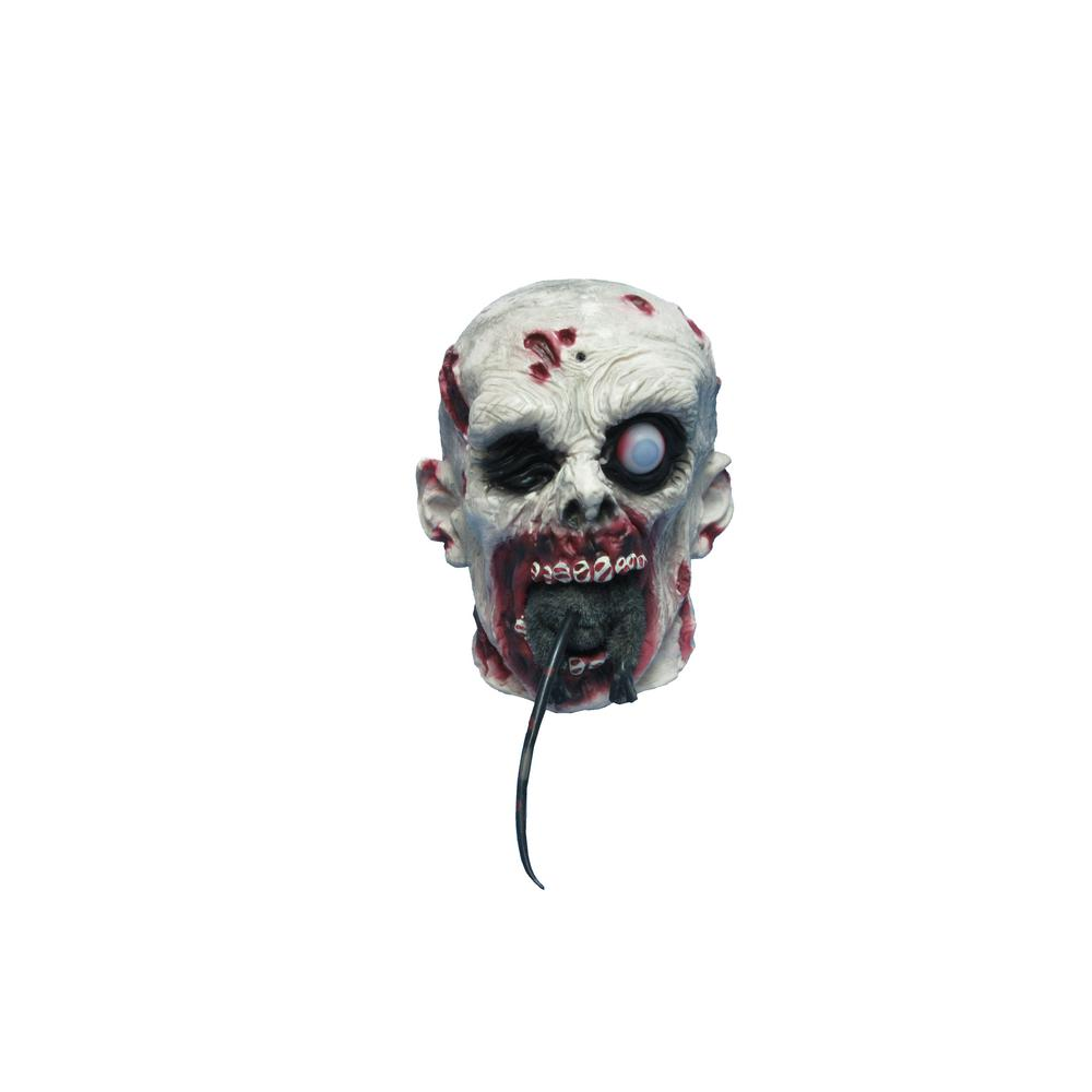 Home Accents Holiday 9 in. Halloween Animated Zombie Head Eating Rat