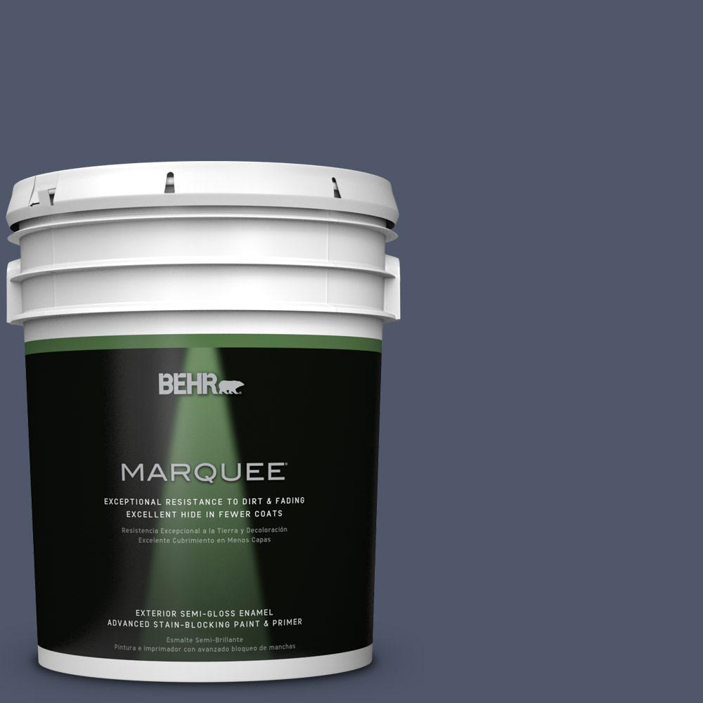 BEHR MARQUEE 5-gal. #QE-55 Harbour Semi-Gloss Enamel Exterior Paint