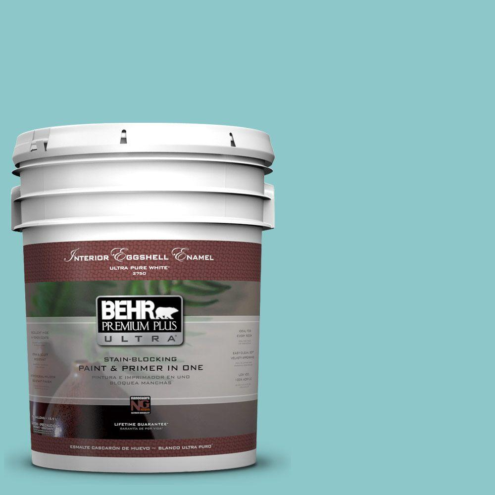 BEHR Premium Plus Ultra 5-gal. #510D-4 Embellished Blue Eggshell Enamel Interior Paint