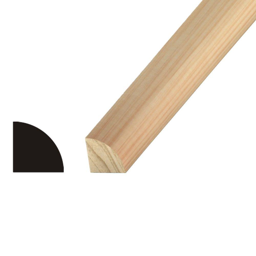 Kelleher 1/4 in. x 1/4 in. Pine Quarter Round Moulding