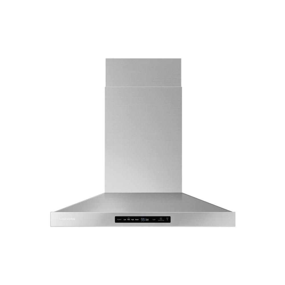 30 in. Wall Mount Exterior Venting Range Hood in Stainless Steel