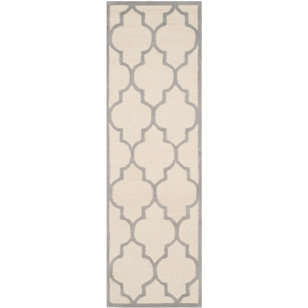 Cambridge Ivory/Silver 2 ft. 6 in. x 10 ft. Runner