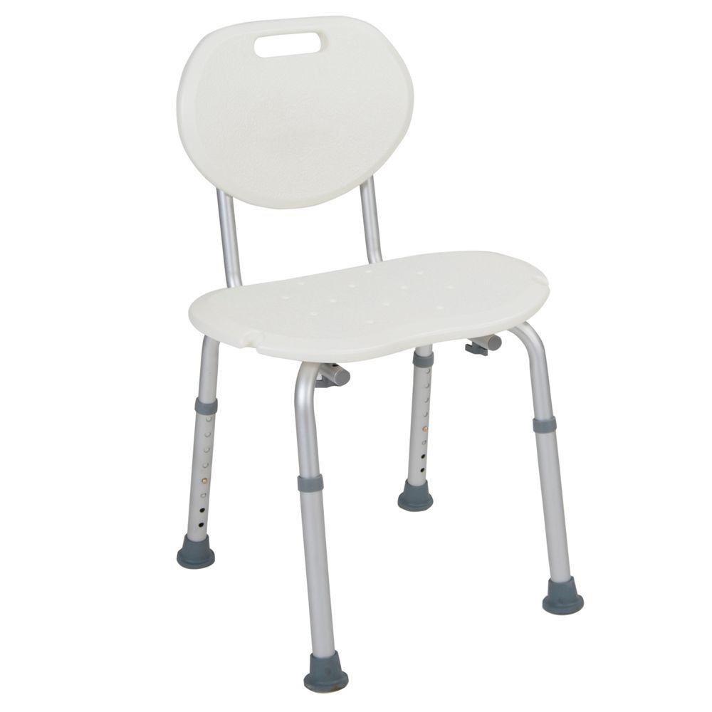 Drive 19.75 in. W x 17.25 in. D Shower Seat with Oval Back, White