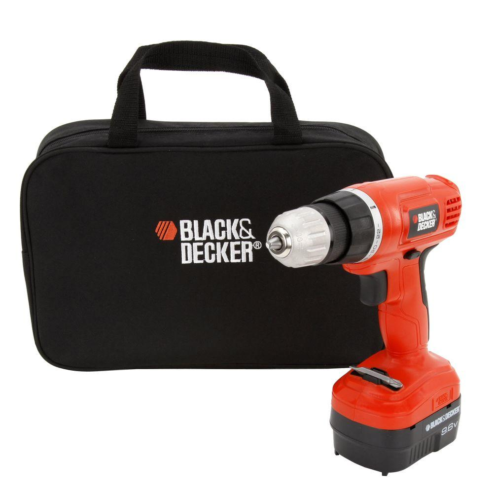 BLACK+DECKER 9.6-Volt Ni-Cad Cordless Drill/Driver with Storage Bag