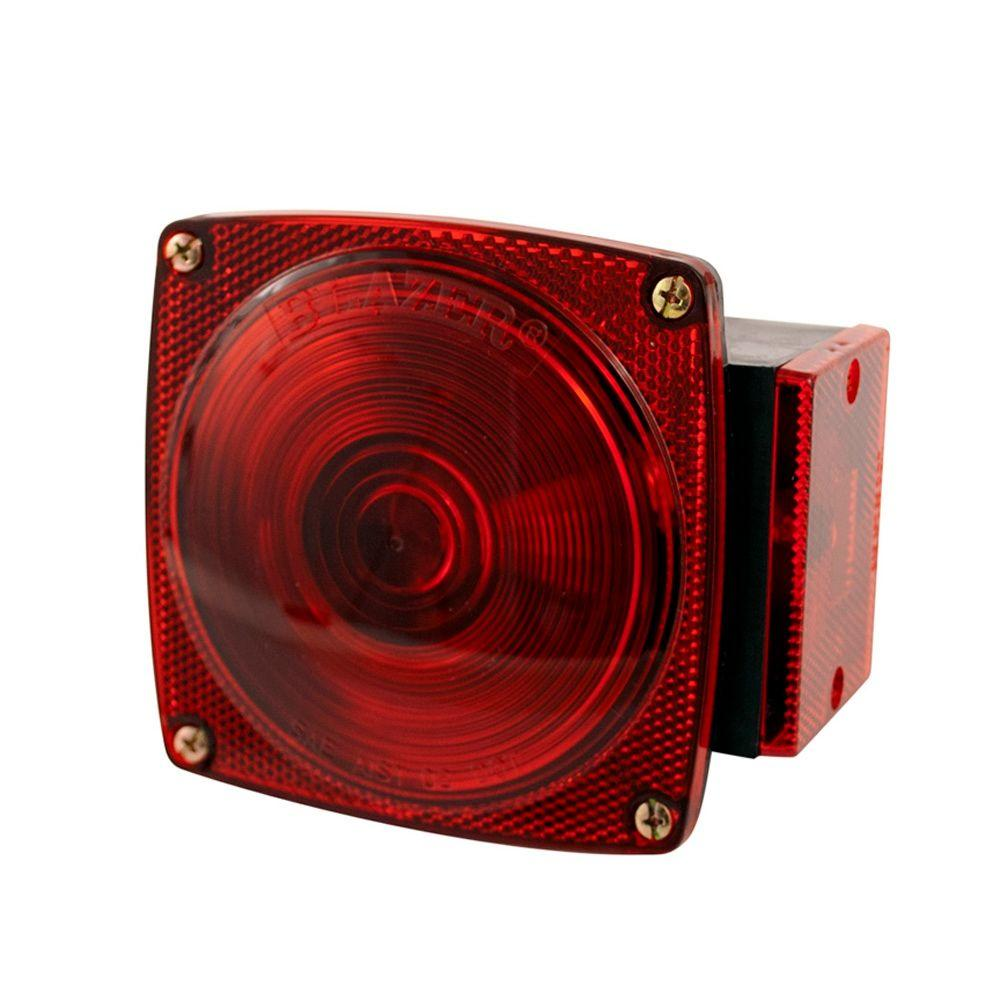 Blazer International Stop/Tail/Turn 4-9/16 in. 6 Function Combination Square Lamp Red for Under 80 in. Applications