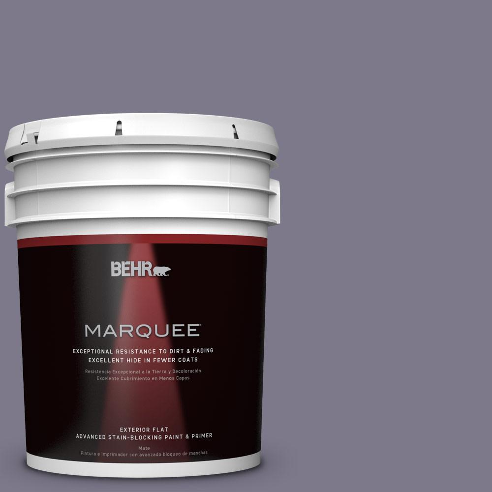BEHR MARQUEE 5-gal. #N560-5 Solitaire Flat Exterior Paint-445405 - The Home
