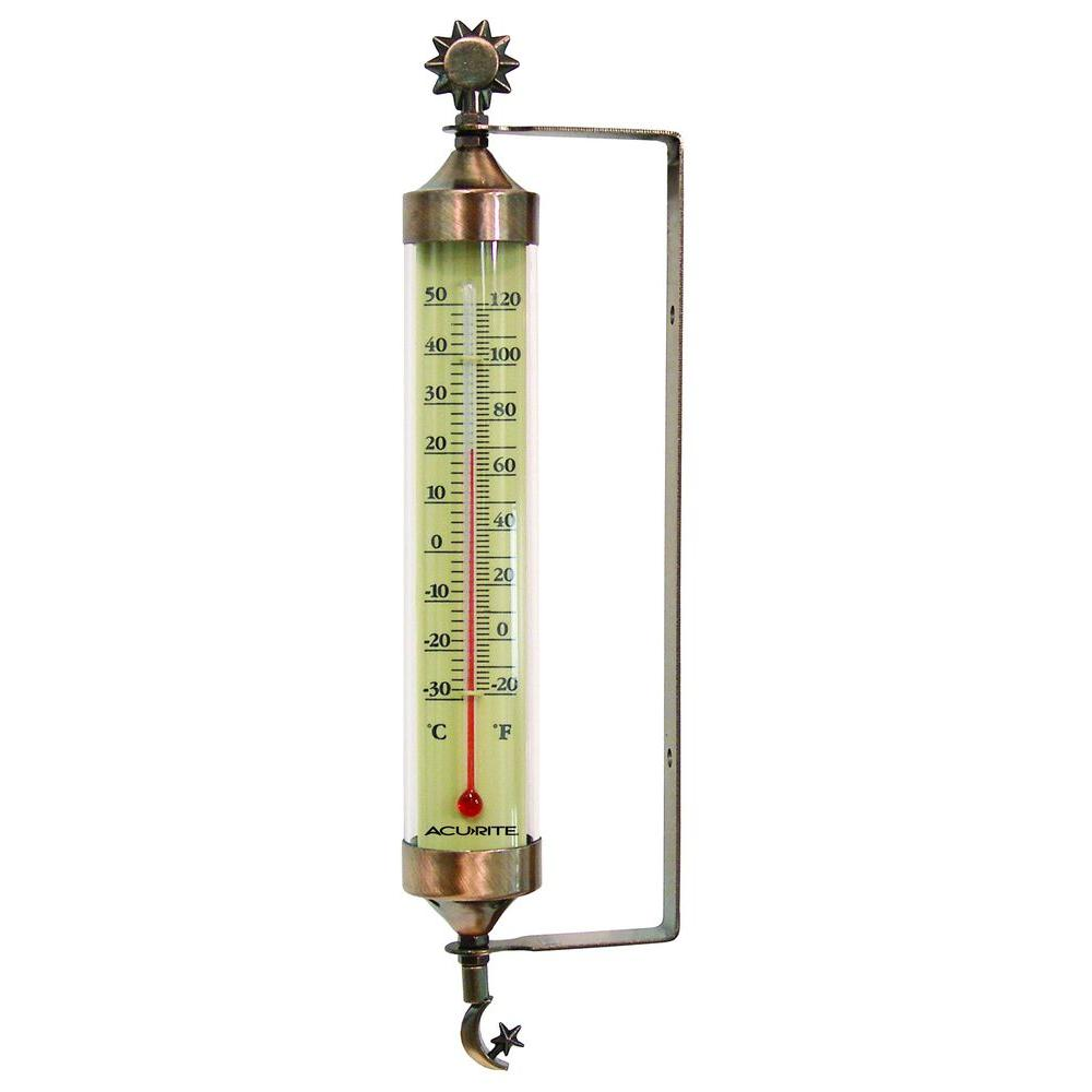 AcuRite Bronze Tube Analog Thermometer