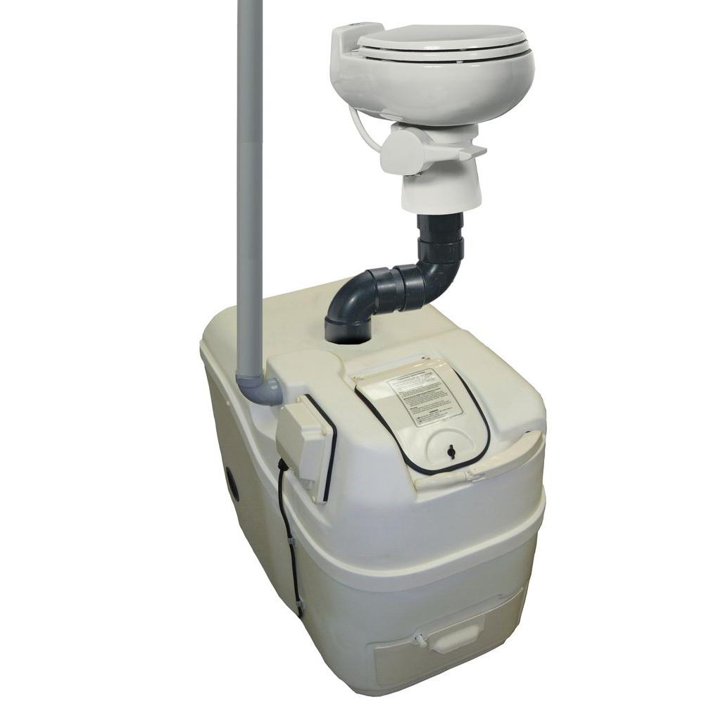 Sun-Mar Centrex 1000 Electric Waterless Ultra Low Water Flush Central Composting Toilet System in Bone