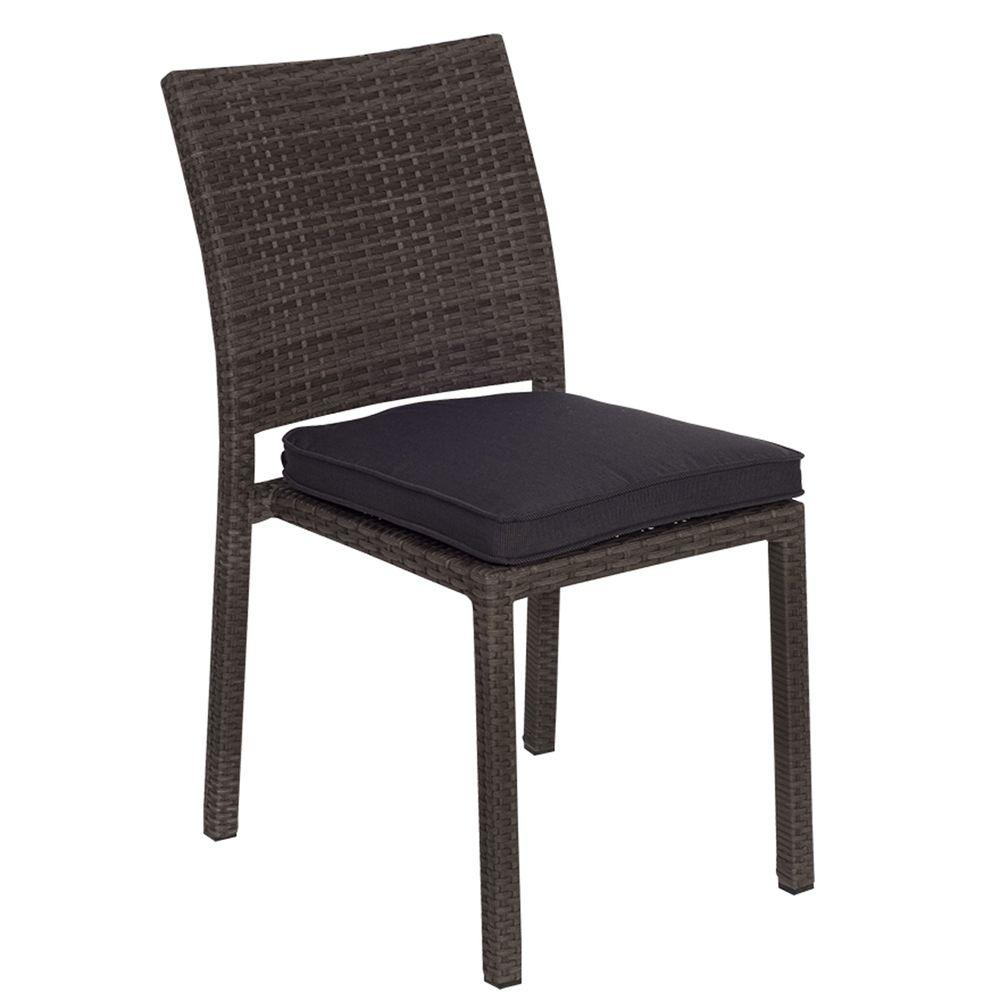 Liberty Grey Patio Dining Chair With Grey Cushion (4 Pack)