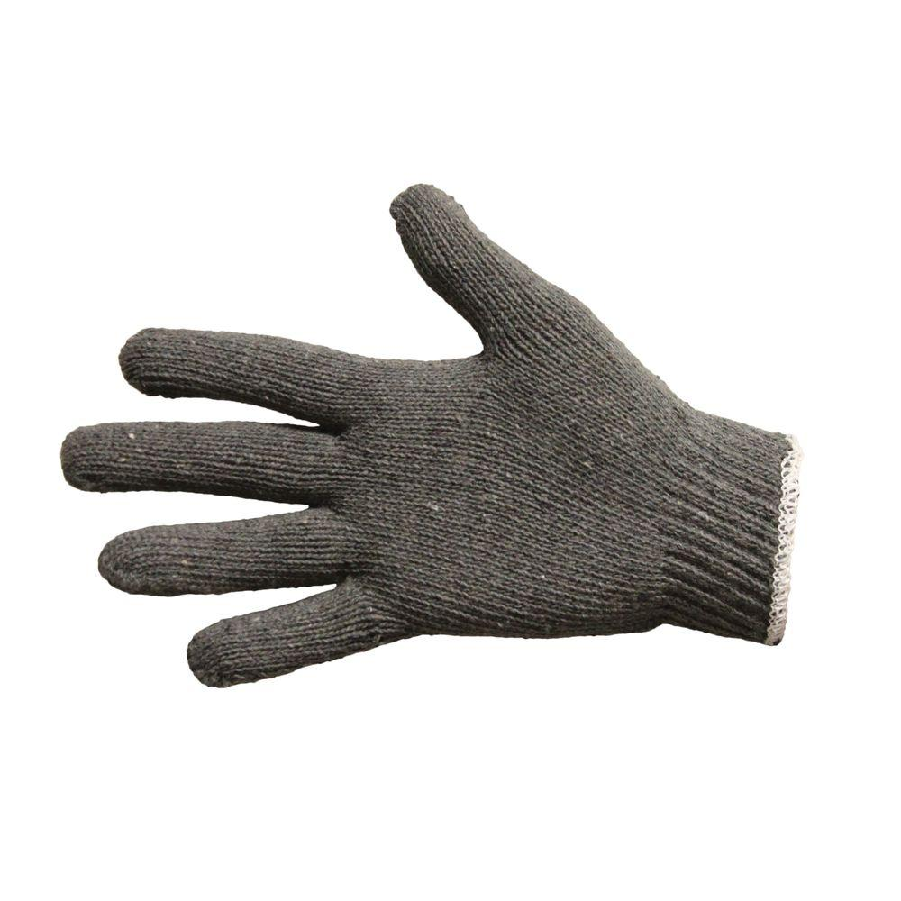 Gray Large String Knit Gloves Reversible (12 Pair per Pack)