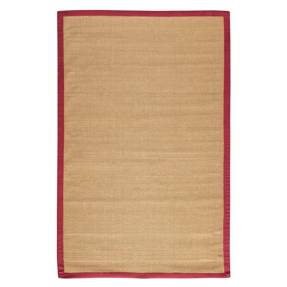 Home Decorators Collection Washed Jute Red 5 ft. 6 in. X