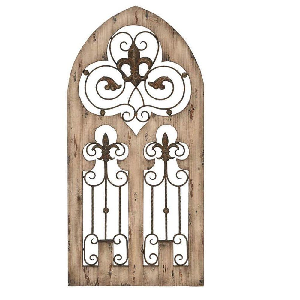 Home Decorators Collection 50 in. x 24 in. Eva Metal and Wood Wall Decor