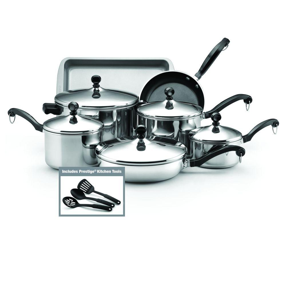 Farberware Classic 12-Piece Stainless Steel Cookware Set ...