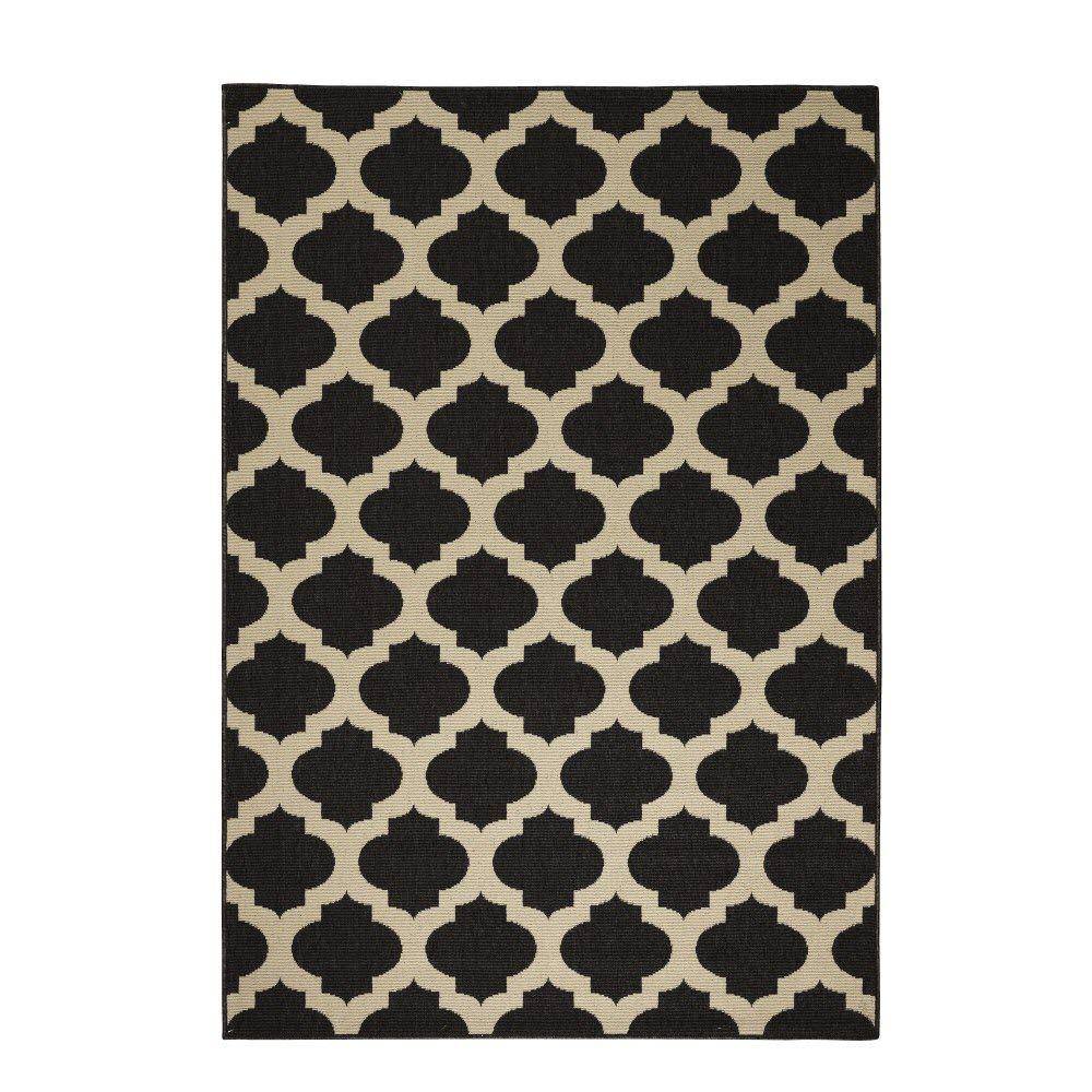 Home Decorators Collection Ciudad Black/Natural 2 ft. 3 in. x 4 ft. 6 in. Area Rug