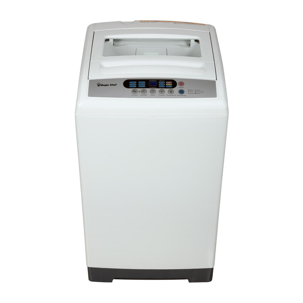 1.6 cu. ft. Compact Top Load Washer in White with Stainless
