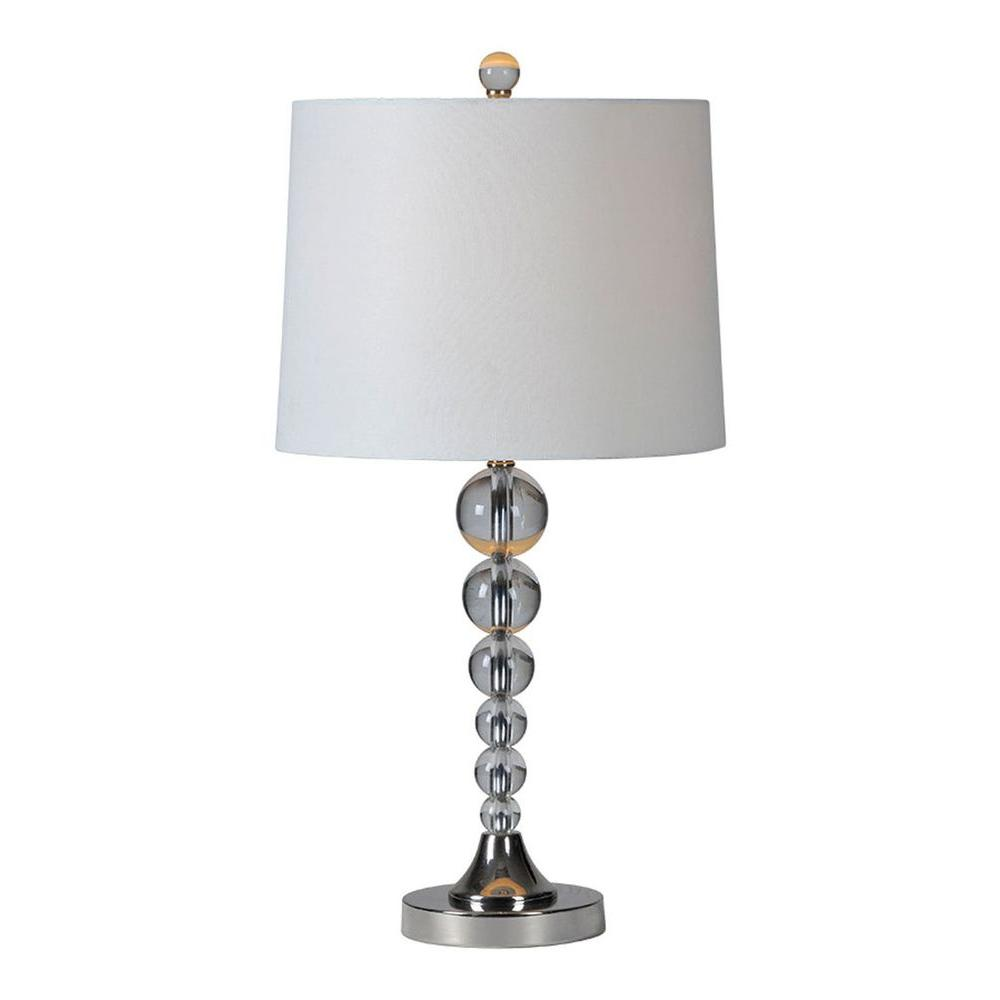 Luna 28 in. Brushed Nickel Incandescent Table Lamp