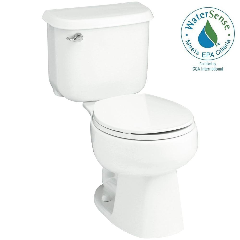 Windham 14 in. Rough-In 2-piece 1.28 GPF Single Flush Round Toilet
