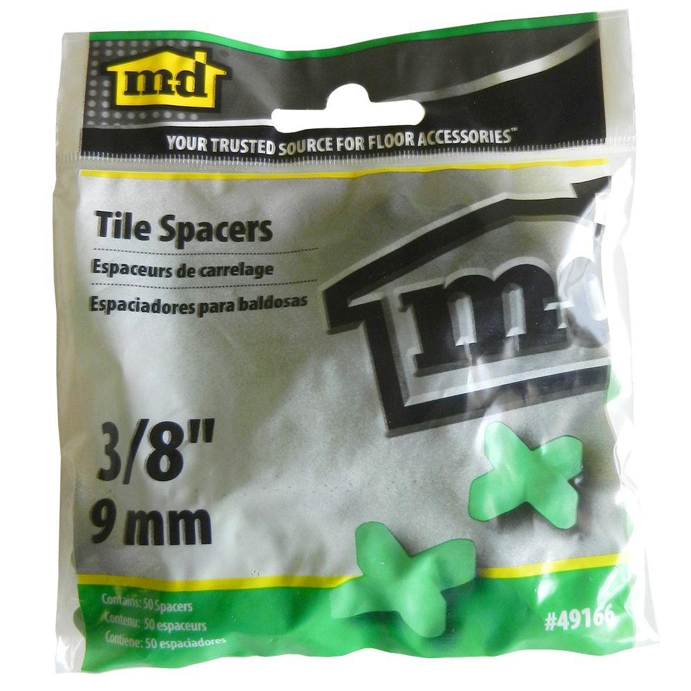 M-D Building Products 3/8 in. Tile Spacers (50 Pieces / Bag)-49166