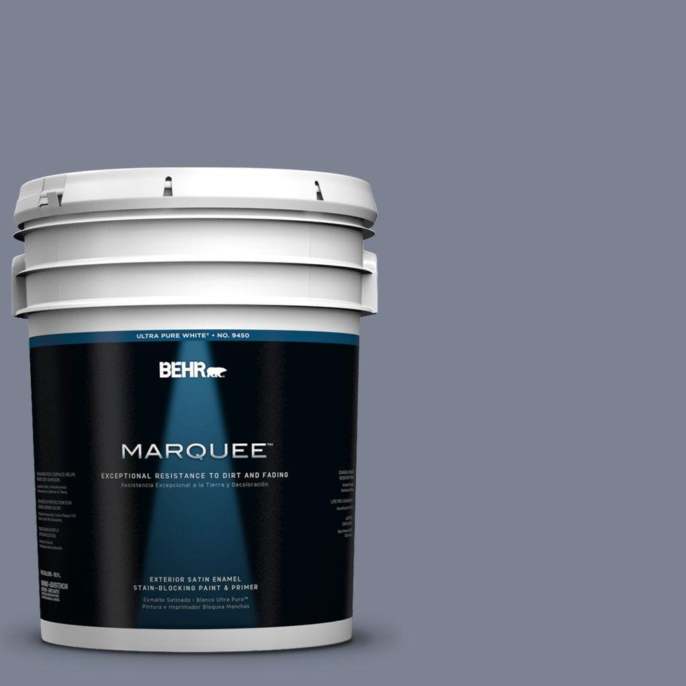 BEHR MARQUEE 5-gal. #610F-6 Deep Smoke Signal Satin Enamel Exterior Paint
