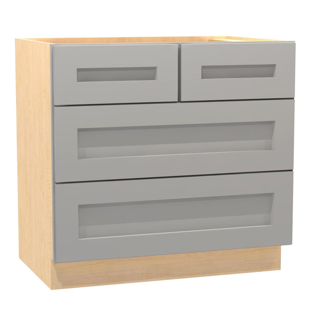 Assembled 36x34.5x24 in. Tremont Base Drawer Cabinet with 3 Soft Close