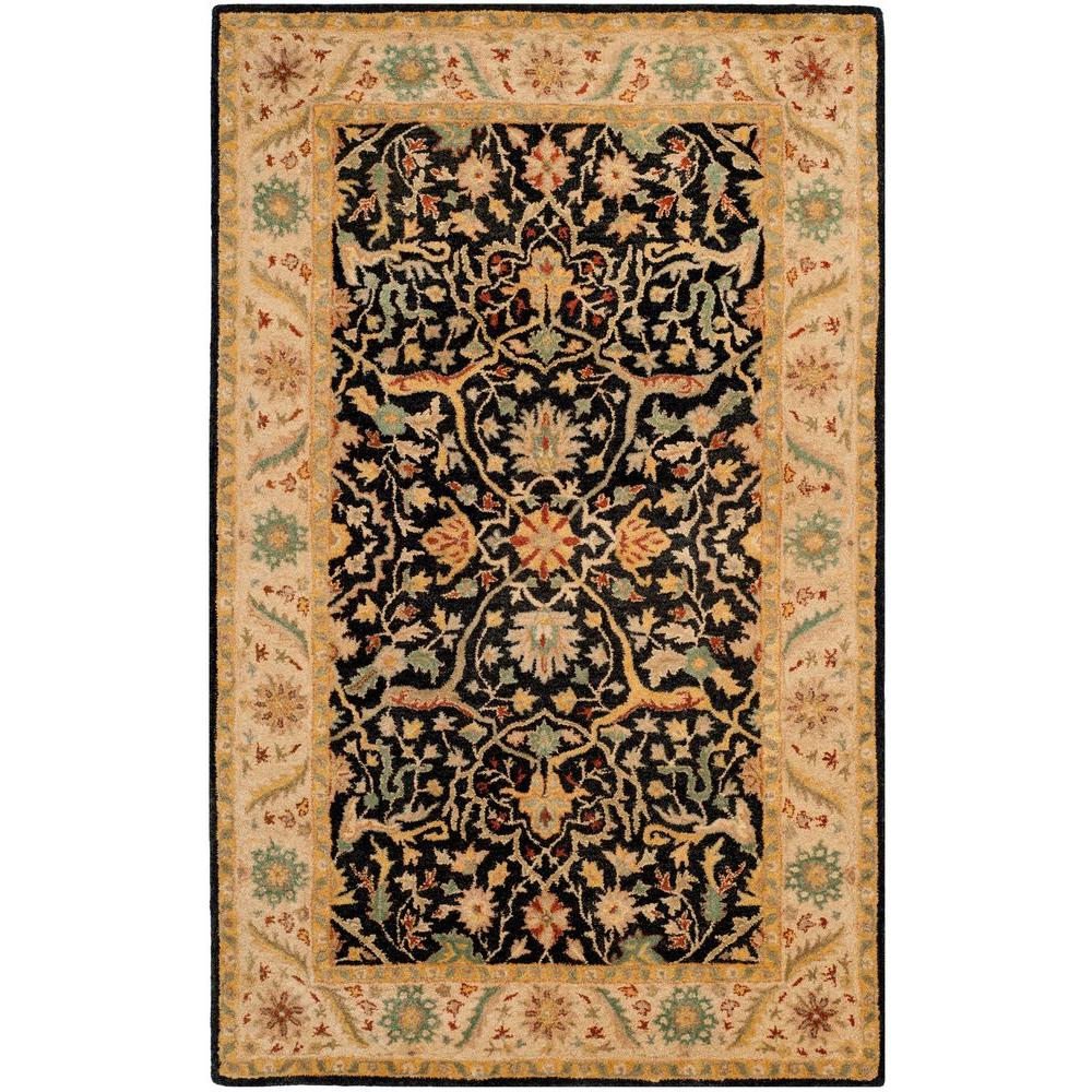 Safavieh Antiquity Black 6 ft. x 9 ft. Area Rug-AT14B-6 -