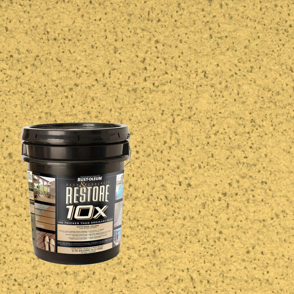 Rust-Oleum Restore 4-gal. Maize Deck and Concrete 10X Resurfacer