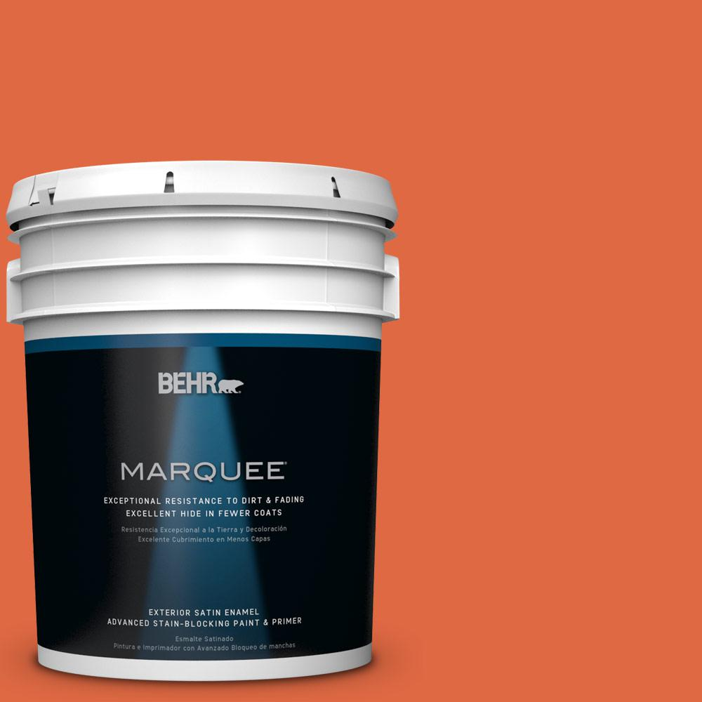 BEHR MARQUEE 5-gal. #P200-7 Bonfire Night Satin Enamel Exterior Paint