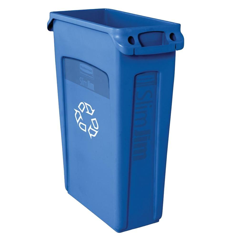 Recycle containers for home use - Blue Recycling Container With Venting Channels