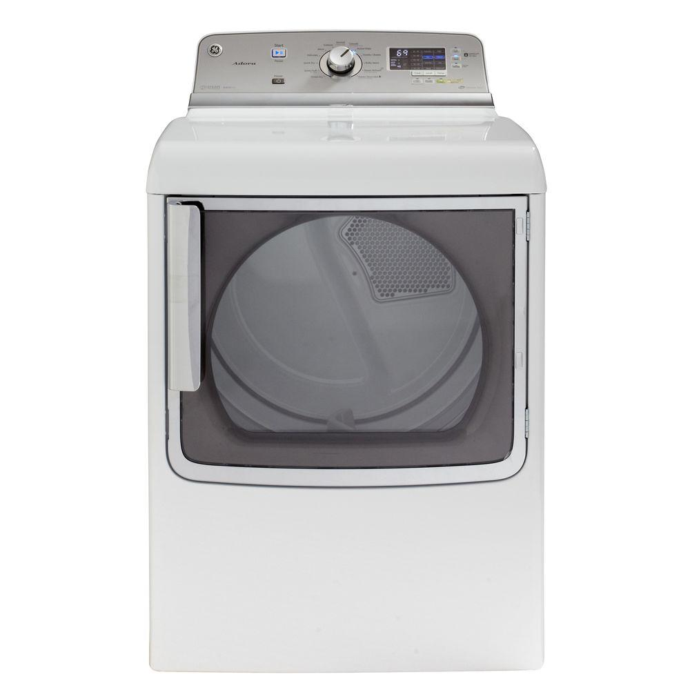GE Adora 7.8 cu. ft. Electric Dryer with Steam in White